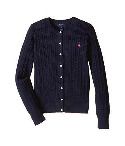 Ralph Lauren Polo Girls Cotton Knit Cable Cardigan Sweater (Small) by RALPH LAUREN (Image #2)