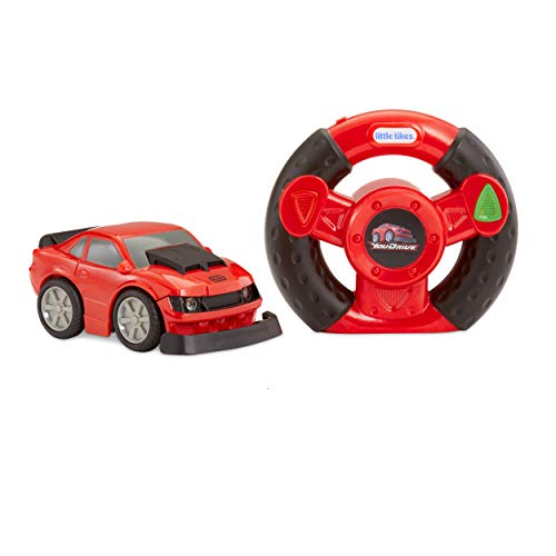 Little Tikes YouDrive Red Muscle Car with Easy Steering Remote Control Toy, Multicolor