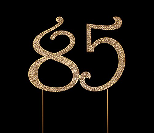 Amazon Number 85 For 85th Birthday Cake Topper Anniversary Party Decorations Joint Gold 45 Inches Tall Kitchen