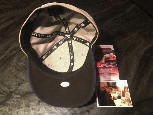 Gavin Lux Los Angeles Dodgers Signed 2018 Batting Practice Hat WITNESS COA JSA Certified Autographed Hats