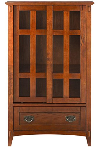 Artisan Multicolormedia Cabinet With Glass Doors, 52