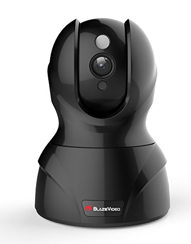 BlazeVideo Wireless WiFi 1280x720P HD IP Network Pan/Tilt Mini Cloud Camera, Video Record and Playback, Night Vision, Snapshot, Two-Way Audio, Motion Detection for iPhone, iPad, Android Phone or PC