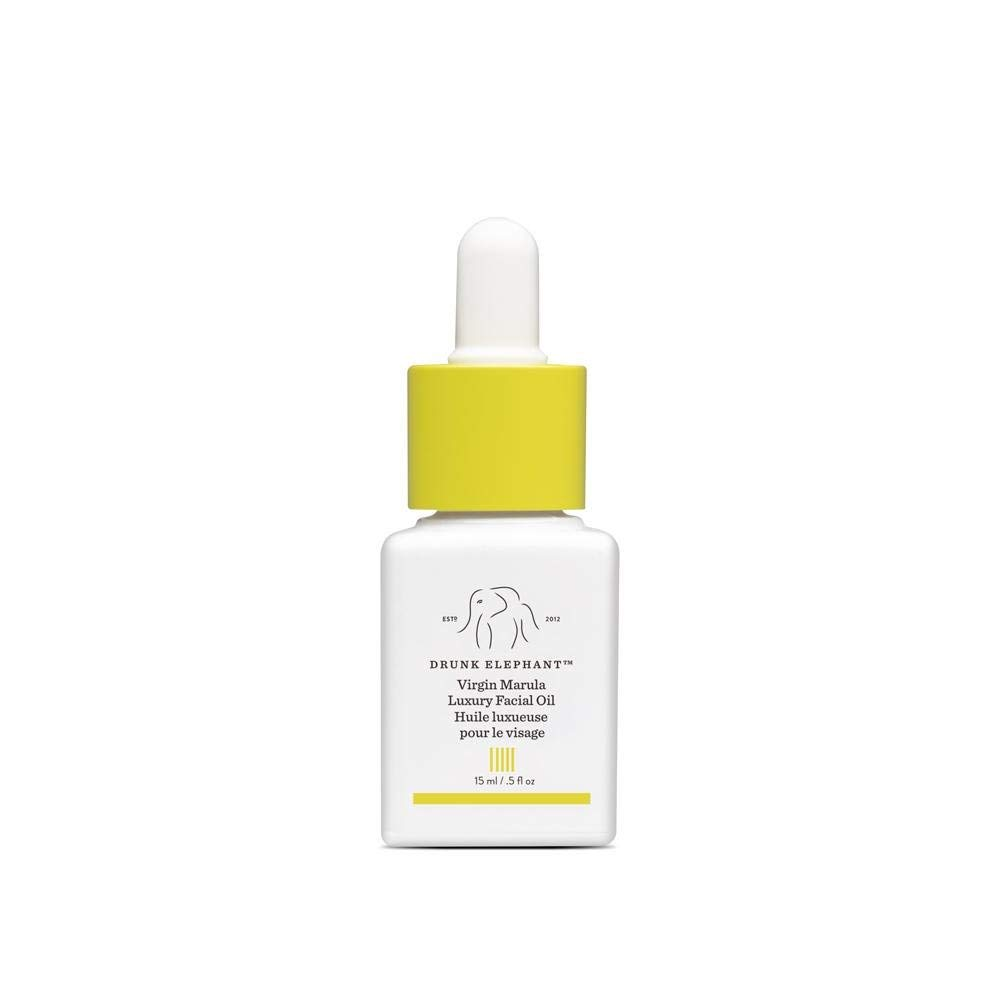 Drunk Elephant Virgin Marula Luxury Facial Oil - Gluten-Free and Vegan Anti-Aging Skin Care and Face Moisturizer (15 Milliliters/0.5 Ounce) by Drunk Elephant