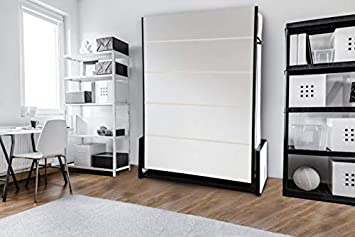 Wallbedking Cama doble vertical de estudio de pared de 135 cm x 190 cm, cama plegable, cama oculta, cama plegable