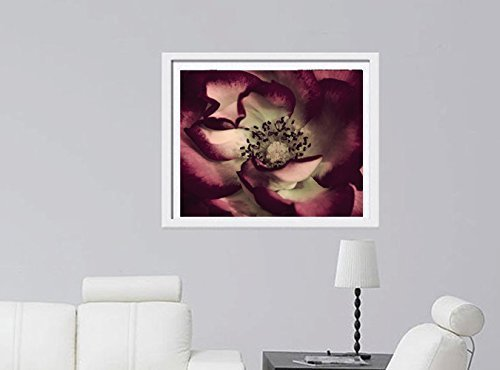 Fine Art Flower Macro Photography, Dark Red Floral Art Print 8x10, 11x14, 16x20 for Burgundy Mint Living Room Gallery Wall Decor by Natural Photography Spa (Image #2)