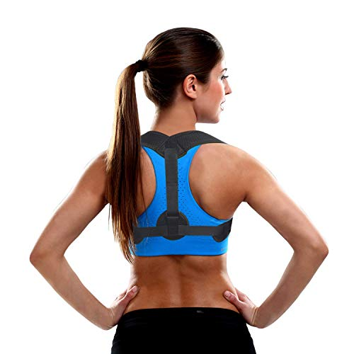 Posture Corrector for Women Men - Posture Brace - FDA Approved, USA Designed - Adjustable Back Straightener - Comfortable Posture Trainer for Spinal Alignment and Posture Support (Posture Monitor)