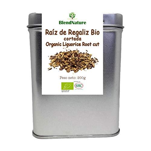 Regaliz de Palo Cortado para infusiones BIO – Raiz 100% Natural - Lata 200 g Maxima Frescura y Conservacion – Certificacion Ecologica – Ideal para Te de Regaliz