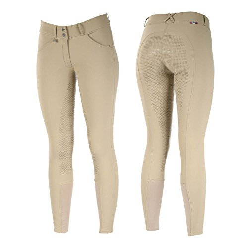 Grand Prix Ladies Horze Light Brown Silicone Grip Full Seat Riding English Hunt Seat Breeches (US 30/EU 42) Sale ()