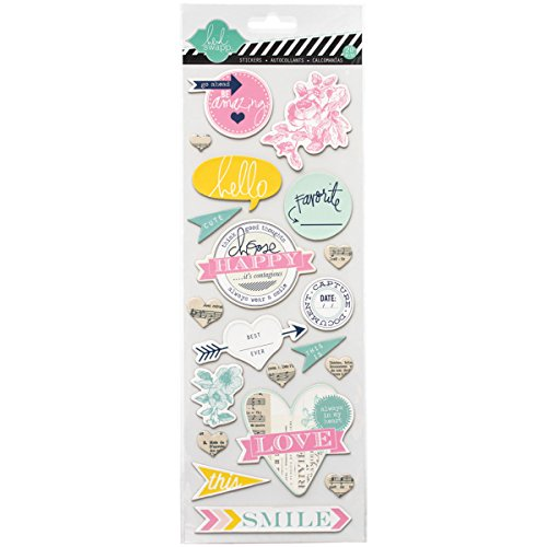 Heidi Swapp Chipboard Stickers, Happy ()