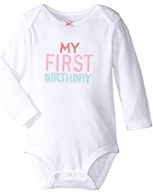 Carter's Baby Girls' My First Birthday Bodysuit