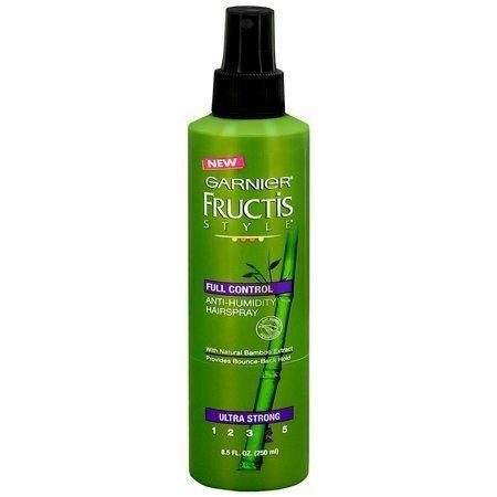 - Garnier Fructis Style Full Control, Ultra Strong Anti-humidity Non Aerosol Hair Spray 8.5oz [ 2 Pack]