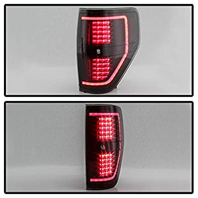 ACANII - For NEW Black Smoke 2009-2014 Ford F150 LED Light Tube Tail Lights Brake Lamps Driver & Passenger Side: Automotive