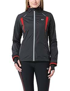 Ultrasport Stretch Delight - Chaqueta de running y ciclismo para mujer, color negro/ rojo, talla XS