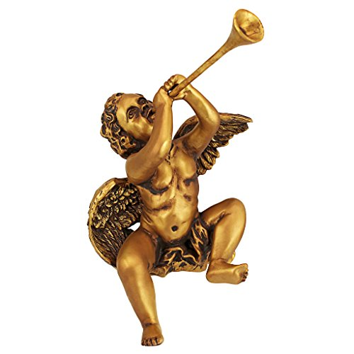 Christmas Decorations - Trumpeting Angel Boy of St. Peters Square - Holiday Angel Statue (Angels Decorations)