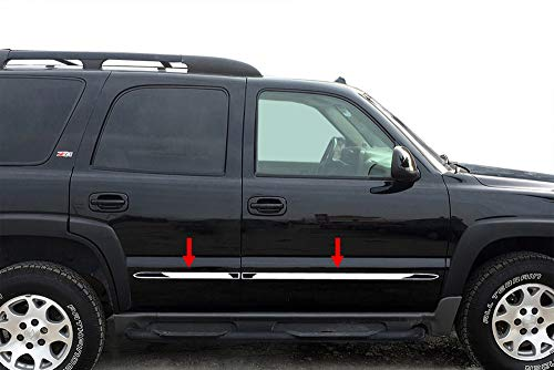 "Made in USA! Works with 2000-2006 Chevy Tahoe 4 Door with Fender Flare Body Side Molding Trim 1.5"" Wide 4PC"