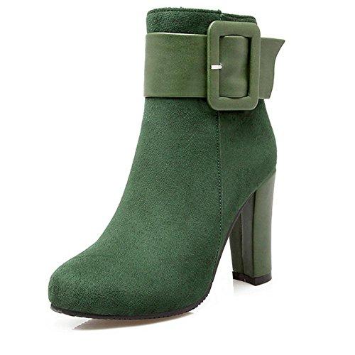 tacco fibbia green di corto 39 Seasons Lady HFour usura scrub cintura nero resistenza Verde stivali gomma antiscivolo grosso della H Beige Rosso 70qx4RRn