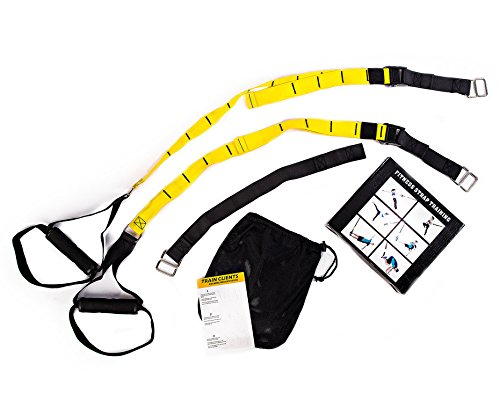 Active Athletic Basics Suspension Trainer Resistance Straps Kit – Full Body Workout Straps with Travel Bag & Exercise Guide