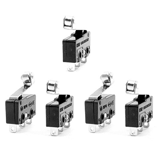 URBEST Micro Switch Momentary SPDT 3 Terminals Snap Action Limit Switch, 10Pcs