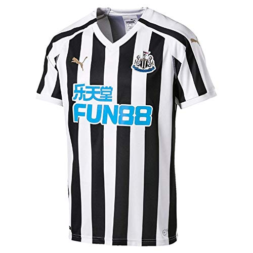 PUMA Men's Newcastle United Home Replica Jersey with Sponsor (Medium) Puma White-Puma Black