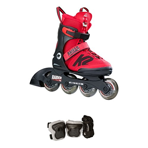 K2 Skate Raider Pro Pack, Red, 1-5 (Skate Pack)