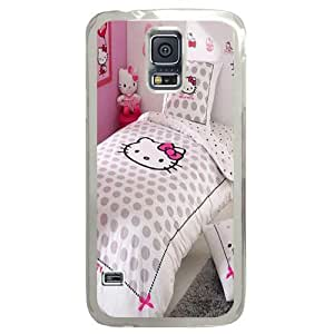 Samsung S5 Great for designing your own case,Designed Specifically for Samsung S5 Compatible with Hello Kitty Bedroom Theme Designs