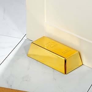 Tope de puerta barra de oro, oro decoración, pisapapeles