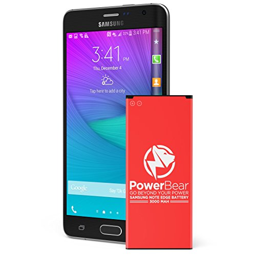 PowerBear Samsung Note Edge Battery | 3000 mAh Li-Ion Battery for the Samsung Note Edge [N915 N915U LTE AT&T N915A Verizon N915V Sprint N915P T-Mobile N915T] Note Edge Spare Battery -24 Month Warranty (Tmobile Note 4 Edge compare prices)