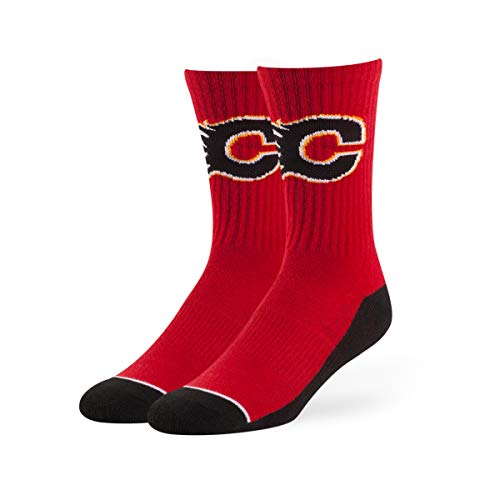 OTS NHL Calgary Flames Male Anthem Sport Socks, Red, Large