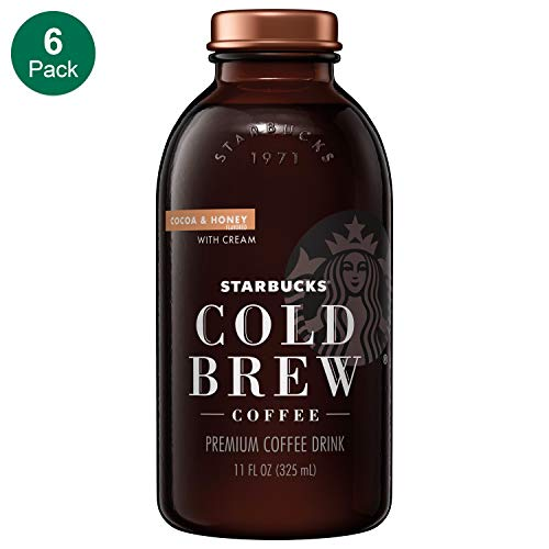 Starbucks Cold Brew Coffee, Cocoa & Honey with Cream, 11 Fl oz Glass Bottles, 6 Count (Best Honey For A Cold)