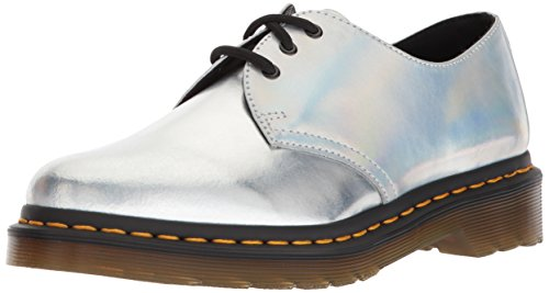 Dr. Martens Women's 1461 RS Silver Oxford, Silver Lazer, 3 Medium UK (5 US) by Dr. Martens
