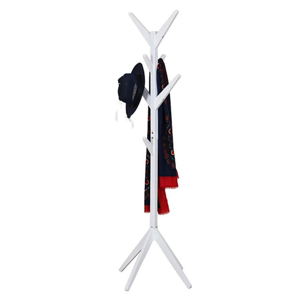 JI BIN SHOP® コートフロアスタンド、ツリーハンガー、ベッドルームストレージラック、現代ランド多機能コンビネーションシェルフ44x170cm (色 : 白) B07MBK8YVN 白