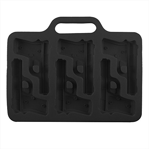 BargainRollBack Gun Pistol Ice Cube Chocolate Soap Tray Mold Silicone Party Maker