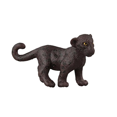 Dartphew Toys,Dartphew 1Pcs Black Panthe Animal Model Toy,Figurine Model Decoration Ornament Educational Toys,for Safe & Fun Role Play for Kids Baby Boys Girls(Cool Black) (B)