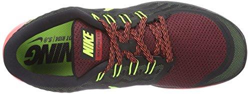 Nike Free 5.0, Sneakers da Uomo Nero (Black/Volt-gym Red-unvrsty Red)