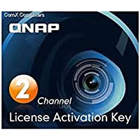 Qnap Camera License Activation Key for Surveillance Station Pro for QNAP NAS (LIC-CAM-NAS-2CH)