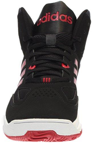 Adidas Neo Cloudfoam trueno Mediados de zapatos, plomo / blanco / rojo de la potencia, 7 M US Cblack-Bolred-Ftwwht