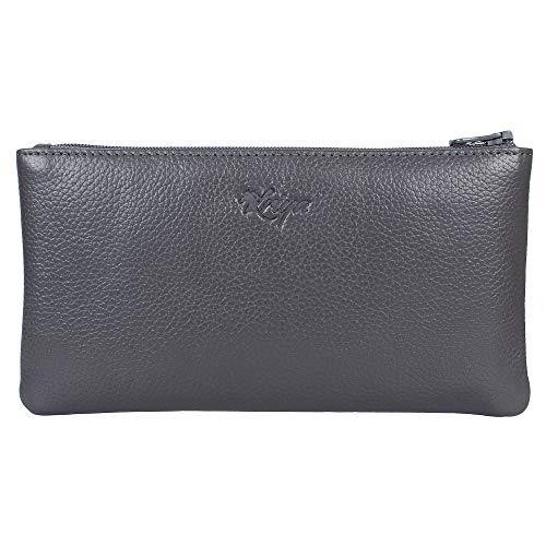 - Women's Wristlet Clutch Handbag Genuine Leather Envelope Evening Bags