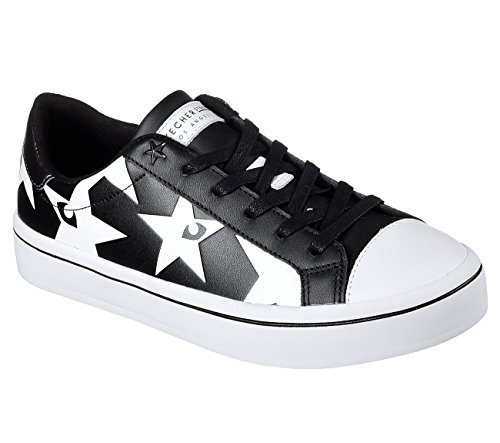 Skechers Hi-Lite Starry Eyed Womens Court-Style Sneakers Black/White H3LmQ93pLU