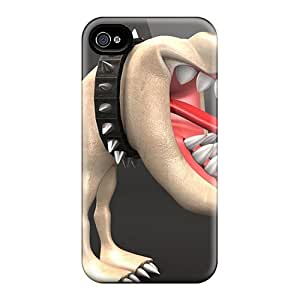 Durable Protector Case Cover With Dog Hot Design For Iphone 4/4s