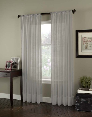 Curtainworks Soho Voile Sheer Curtain Panel, 59 by 63