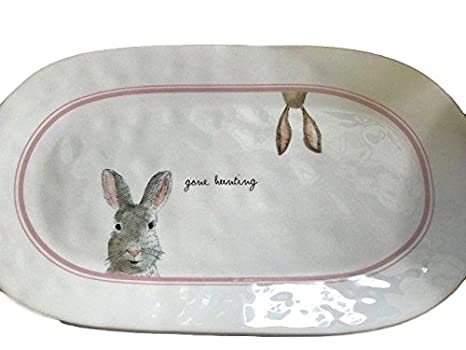 Amazon Com Rae Dunn Gone Hunting Bunny Rabbit Easter Spring