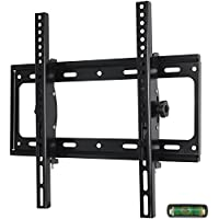 Low Profile Fixed TV Wall Mount Bracket for 26-55 Samsung Sony Vizio LG Sharp LED LCD OLED Plasma Flat Screen TVs with VESA 400x400mm, 110lbs Capacity, Includes Bubble Level