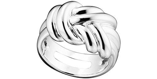 Canyon bijoux Anneau noué en argent 925 passivé, 7.8g, T54
