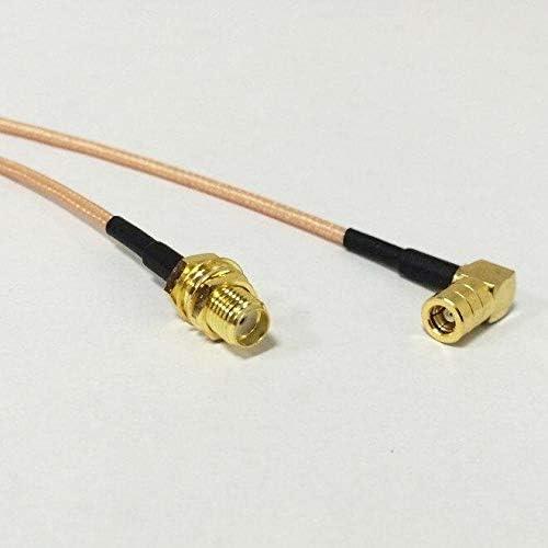 1 Cable coaxial SMA Hembra a SMB Hembra Jack ángulo Recto RG316 ...