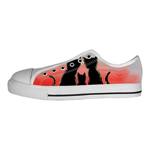 Custom Gatto del fumetto Womens Canvas shoes I lacci delle scarpe scarpe scarpe da ginnastica Alto tetto