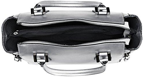 Chicca Borse 8849, Borsa a Spalla Donna, 33x24x14 cm (W x H x L) Argento