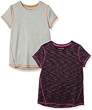 Amazon Essentials Girls' 2-Pack Short-Sleeve Active