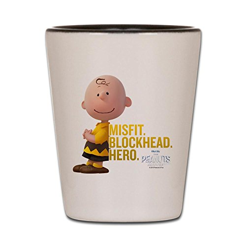 CafePress - Charlie Brown - Blockhead - Shot Glass, Unique and Funny Shot Glass