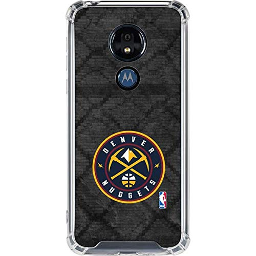 (Skinit Denver Nuggets Dark Rust Moto G7 Power Clear Case - Officially Licensed NBA Phone Case Clear - Transparent Moto G7 Power Cover)