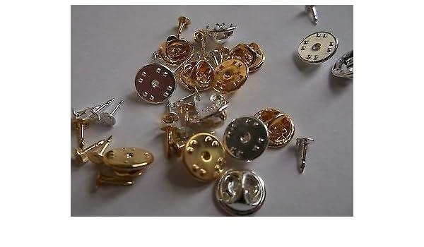 100 de plata/chapado en oro o mixto lazo Tac (onestopdiycom) pines Pad y lazo del apretón de embrague: Amazon.es: Hogar